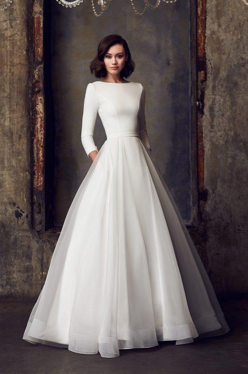 Modest Ball Gown Wedding Dress - Style #2308 | Mikaella Bridal
