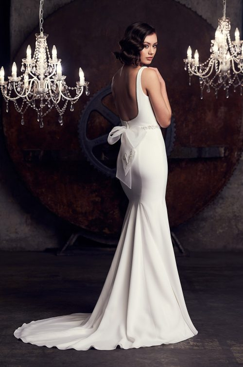 Striking Scoop Neckline Wedding Dress - Style #2309 | Mikaella Bridal