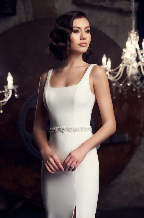 Striking Scoop Neckline Wedding Dress - Style #2309 | Mikaella Bridal