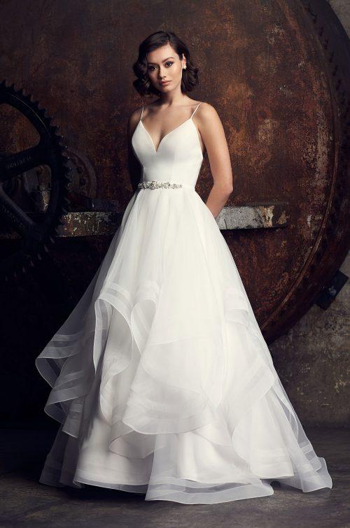 Elegant Layered Wedding Dress - Style #2312 | Mikaella Bridal