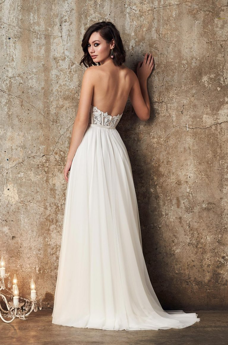 Strapless Tulle Skirt Wedding Dress - Style #2313 | Mikaella Bridal