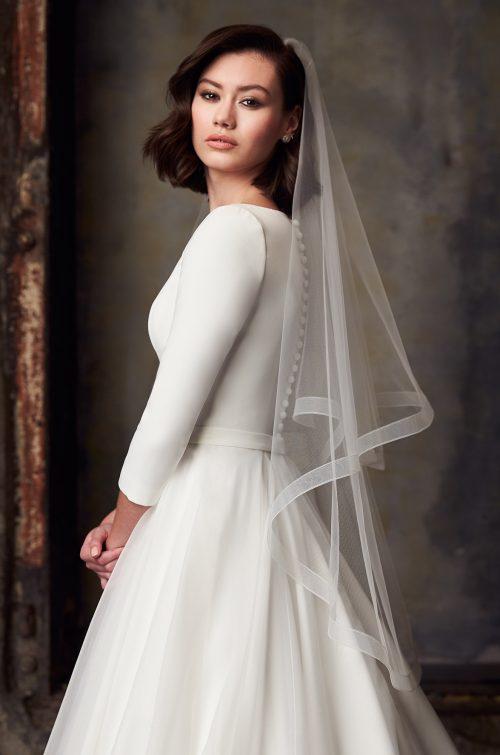 Versatile Tulle Veil - Style #VM491F | Mikaella Bridal