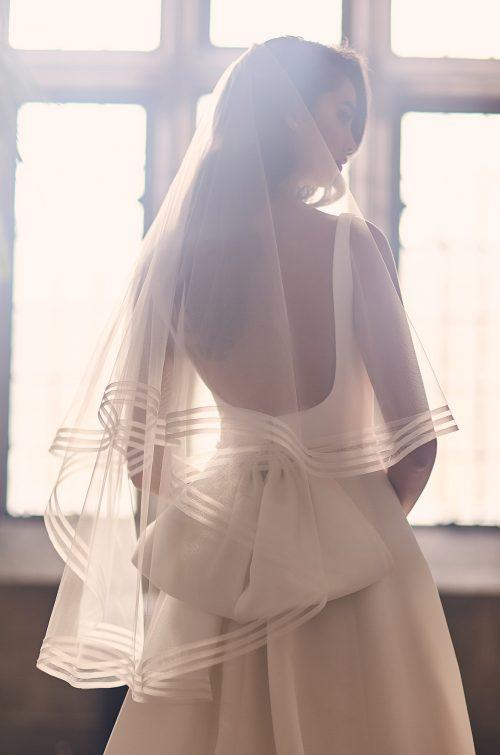 Triple Horsehair Edge Veil - Style #VM492F | Mikaella Bridal