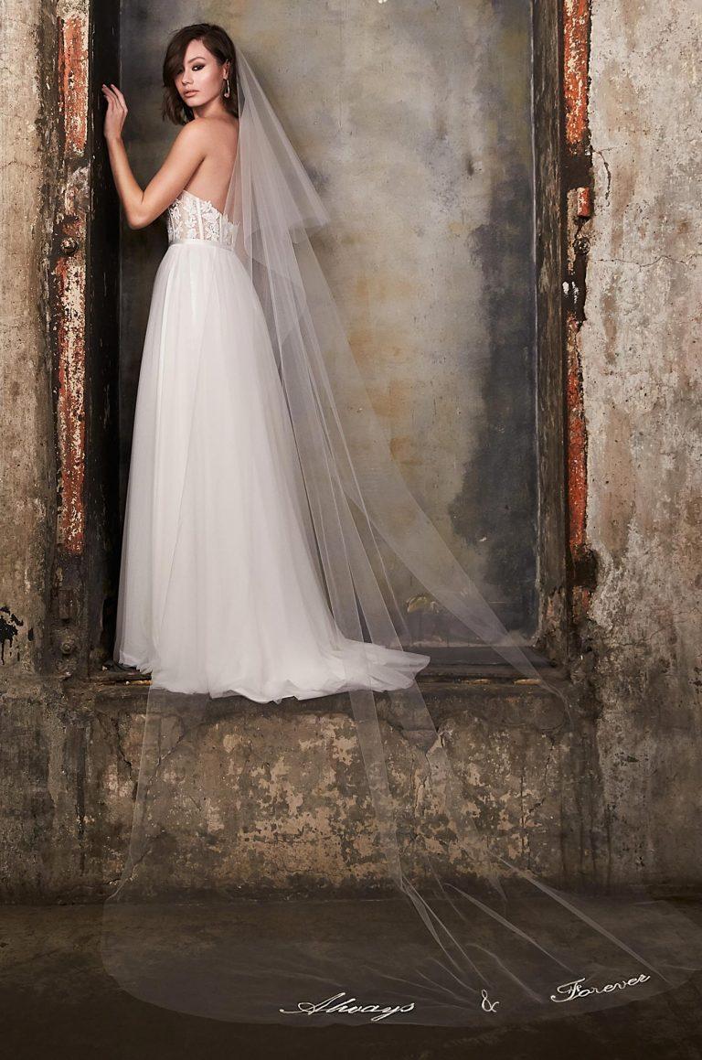Stunning Embroidered Veil - Style #VM493C | Mikaella Bridal