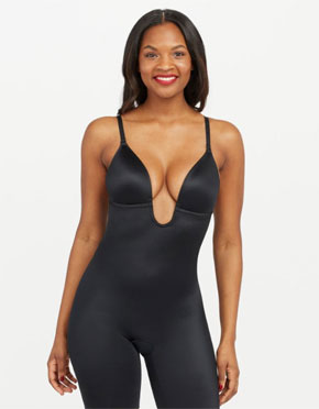 Suit-Your-Fancy-Plunge-Low-Back-Mid-Thigh-Bodysuit-Spanx