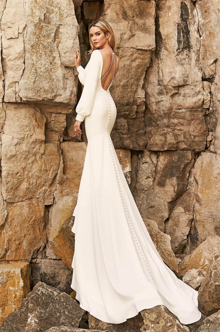 Breathtaking Long Sleeve Wedding Dress - Style #2325 | Mikaella Bridal