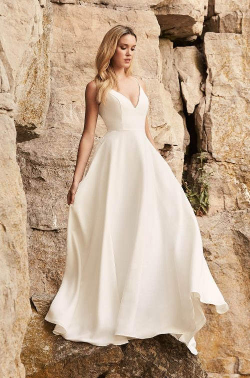 Dreamy Crêpe Wedding Dress - Style #2327 | Mikaella Bridal