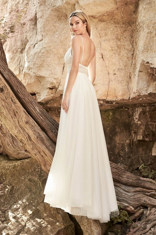 Flowing Boho Wedding Dress - Style #2329 | Mikaella Bridal