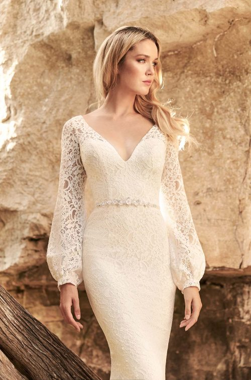 Breezy Lace Wedding Dress - Style #2332 | Mikaella Bridal