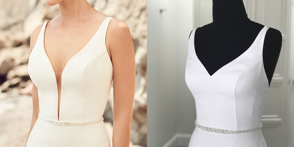 Can I Customize My Wedding Dress - Fill Plunging Neckline